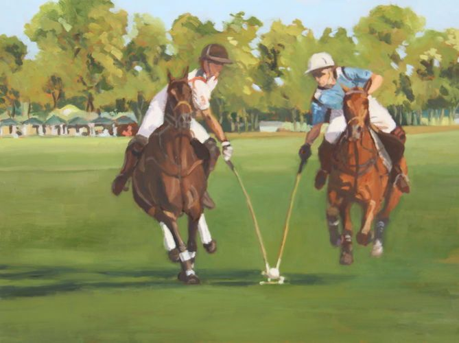 Oil, 9x12, Chukkers 2011, 2011