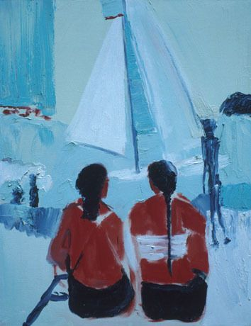 Two Girls and Sailboat