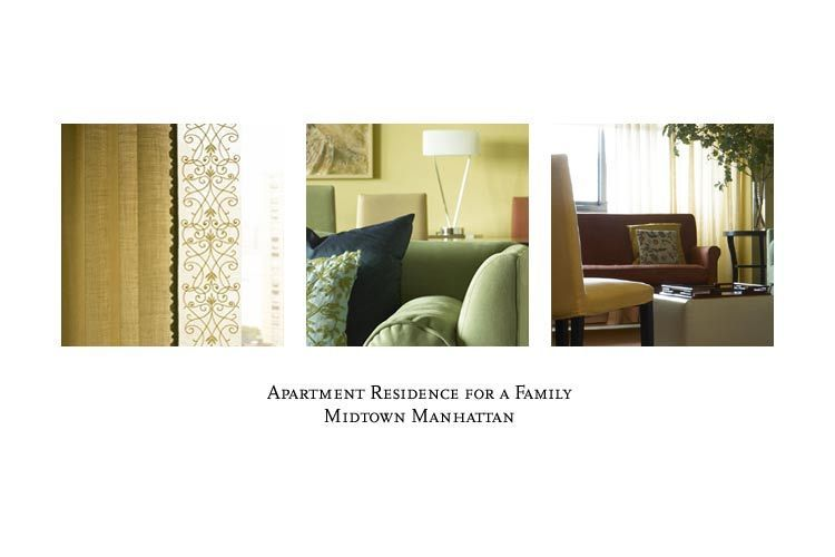Left to right: drapery, upholstery and living room details.