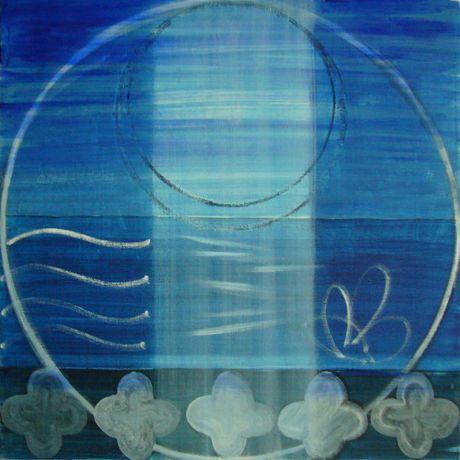 Moon, Sea, Five Quatrefoils