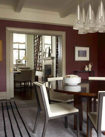 Dining Room, Apartment on Two Floors, New York City.