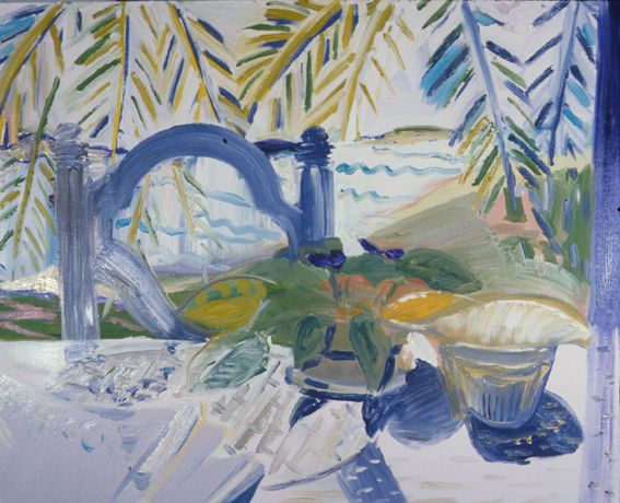 Still Life with Violet Chair