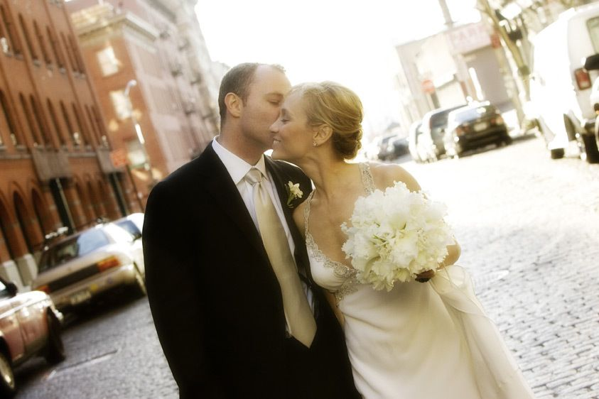 A Wedding Kiss in Tribeca
