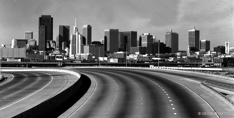 San Francisco Skyline from 280 Freeway