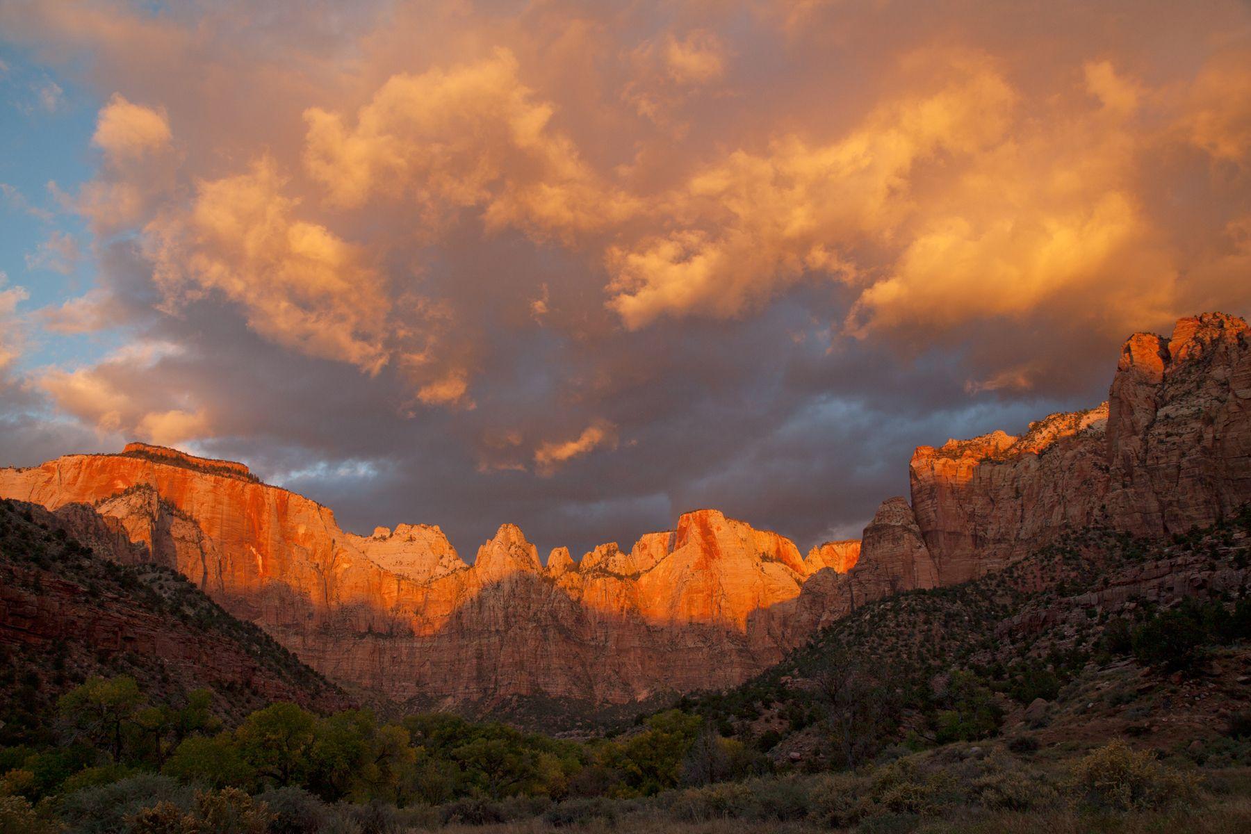 Sunrise at Zion NP. Utah.