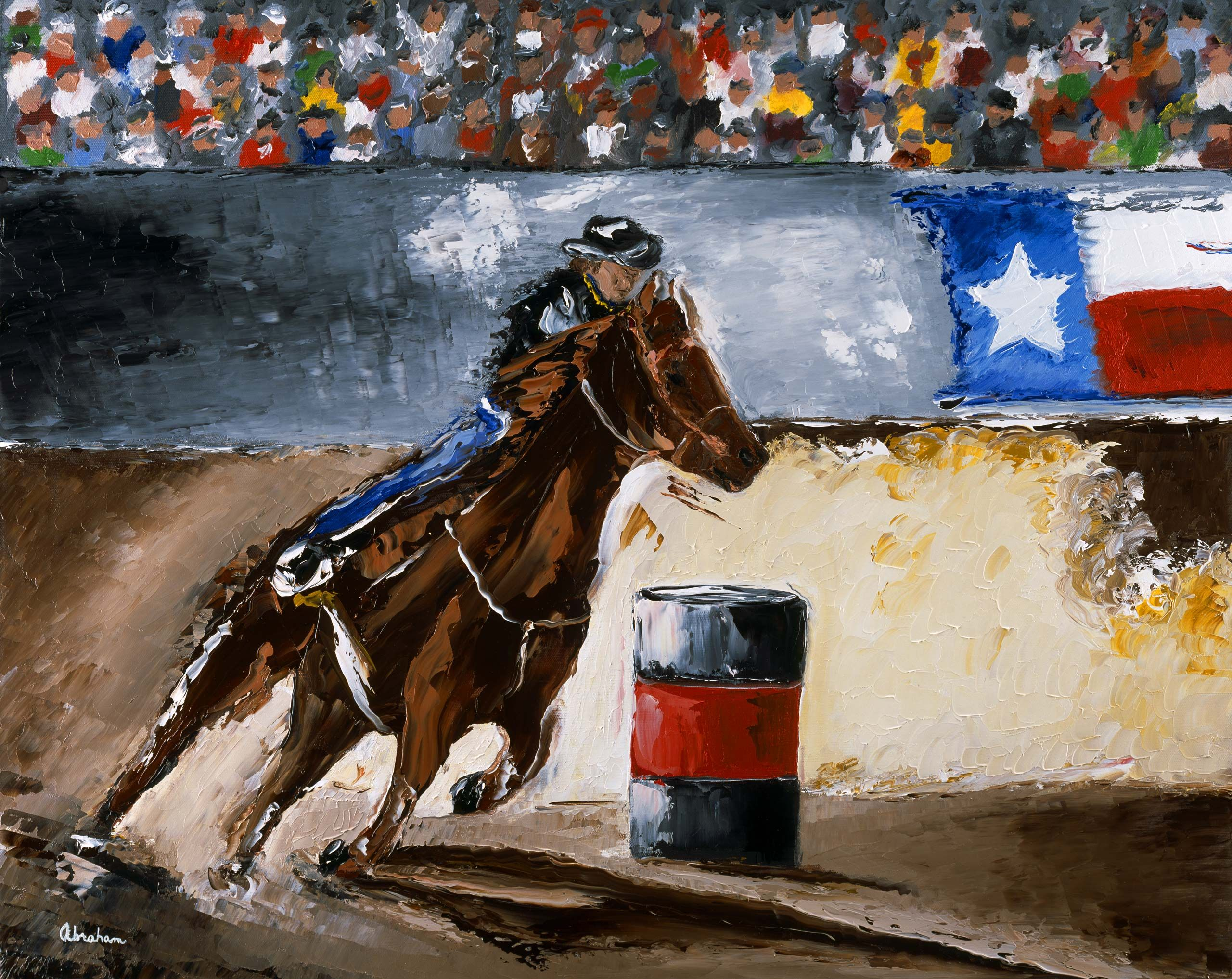 Barrel Run at the Rodeo