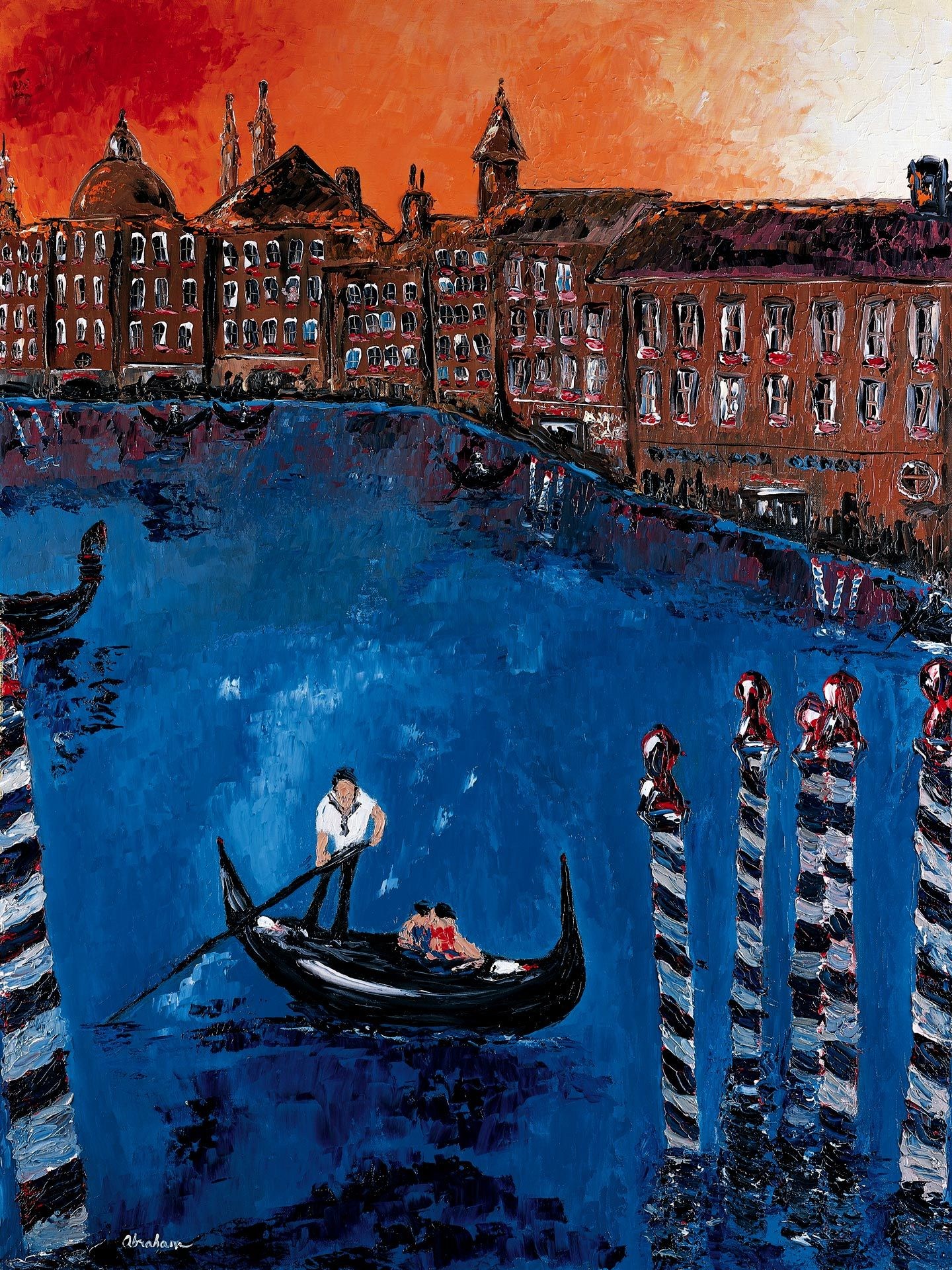 Grand Canal with Gondola, Venice