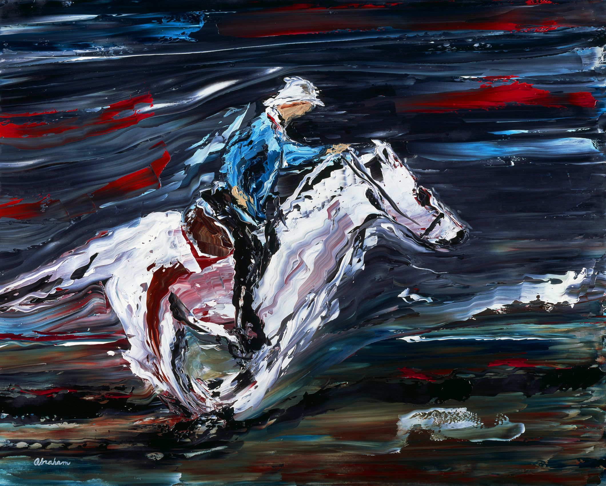 Rider on White Stallion