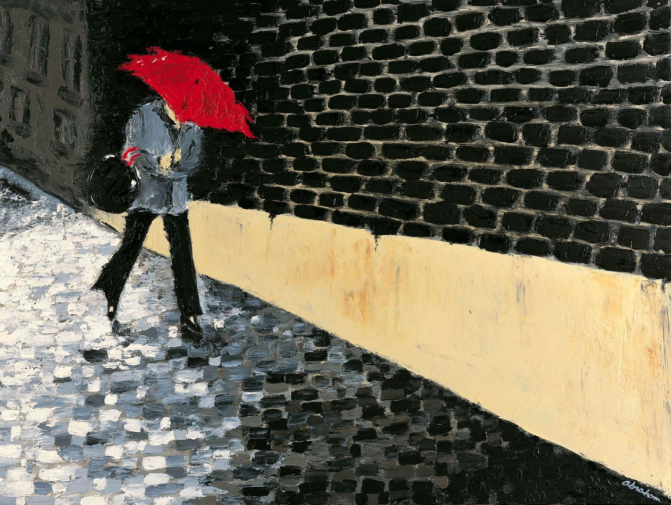 La Femme with Red Umbrella
