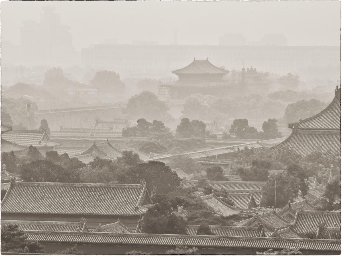 IN THE MIST, FORBIDDEN CITY, BEIJING, CHINA, 2013