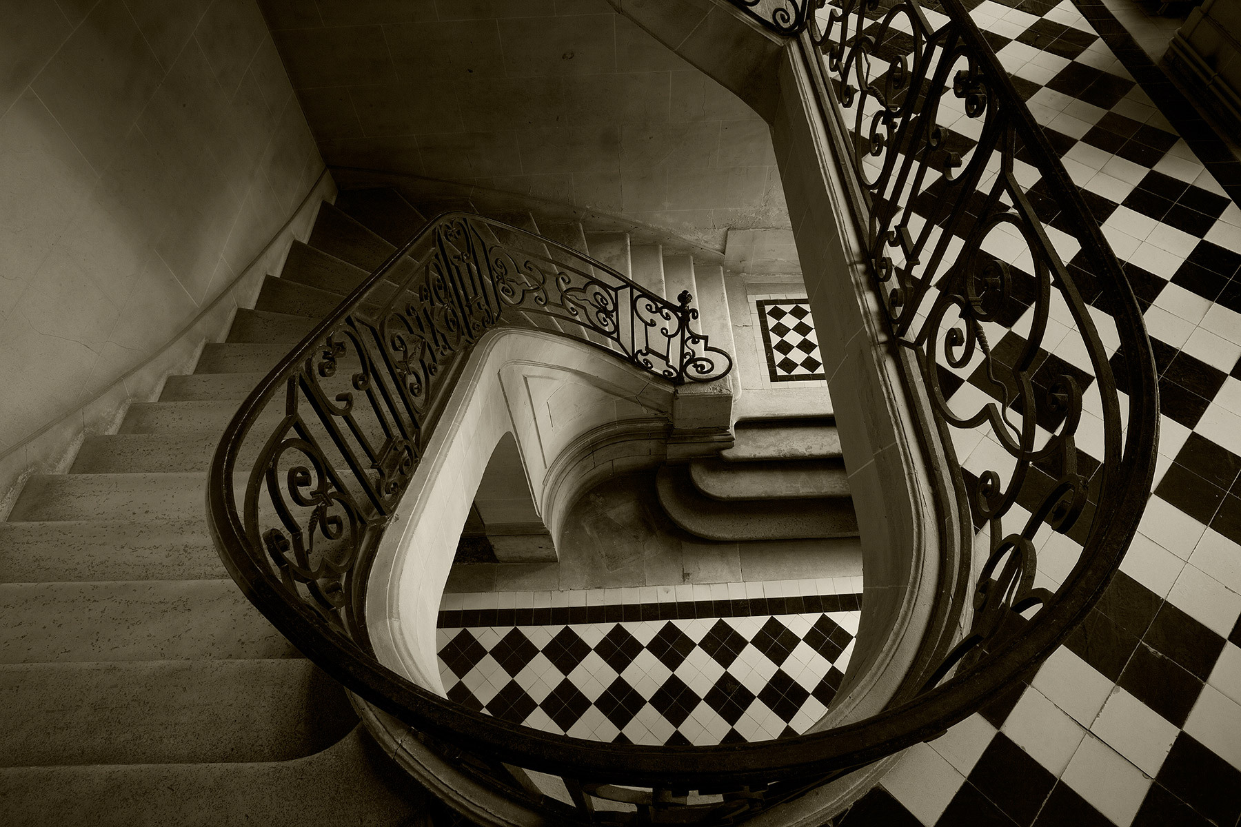 GUERMANTES STAIRCASE DOWNVIEW