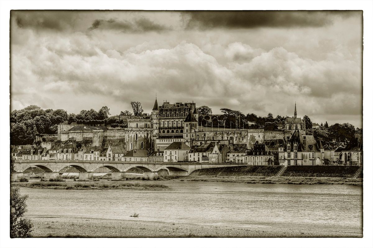 AMBOISE FROM THE NORTH BANK OF THE LOIRE