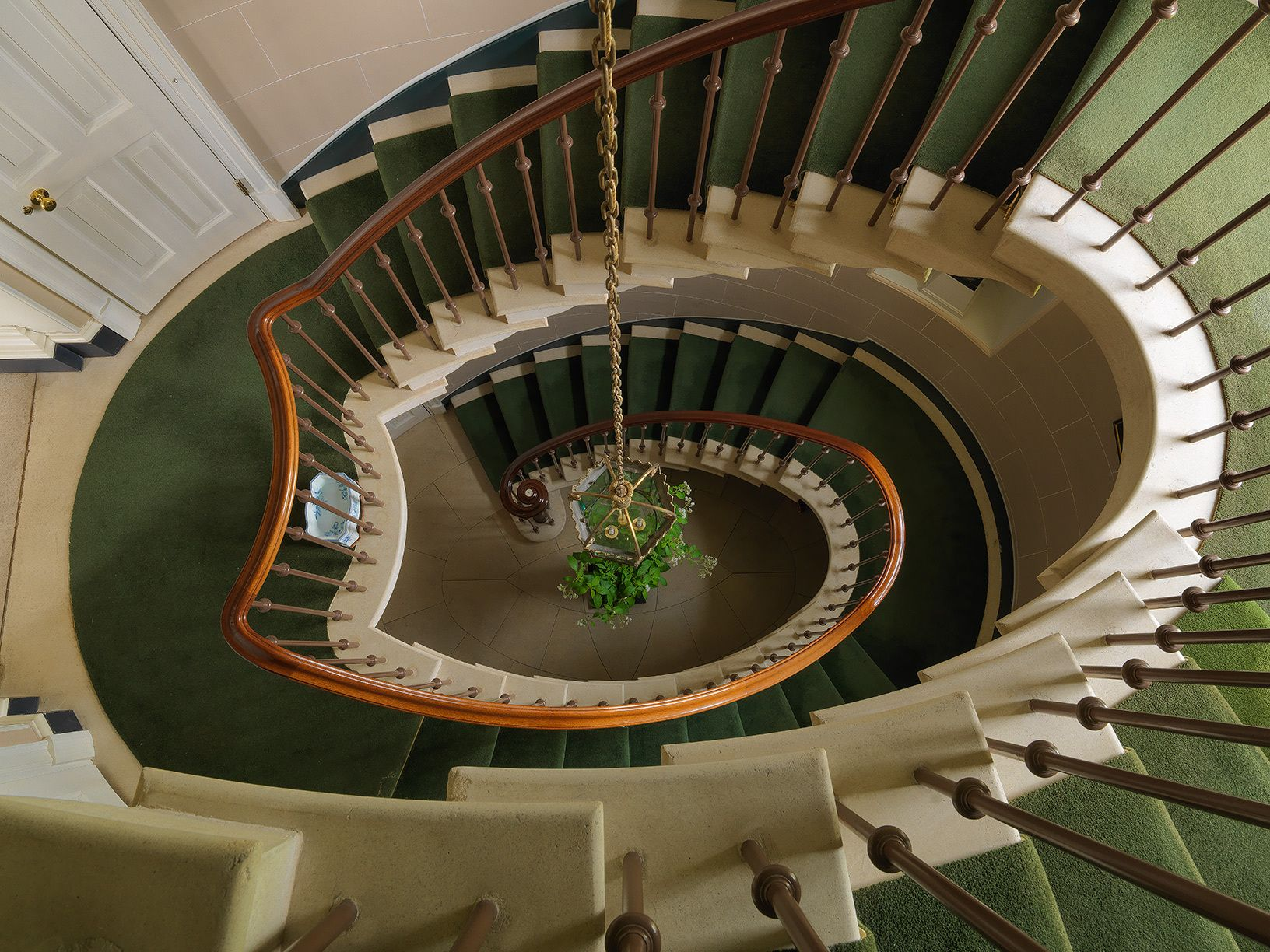 Henbury, downview of spiral staircase