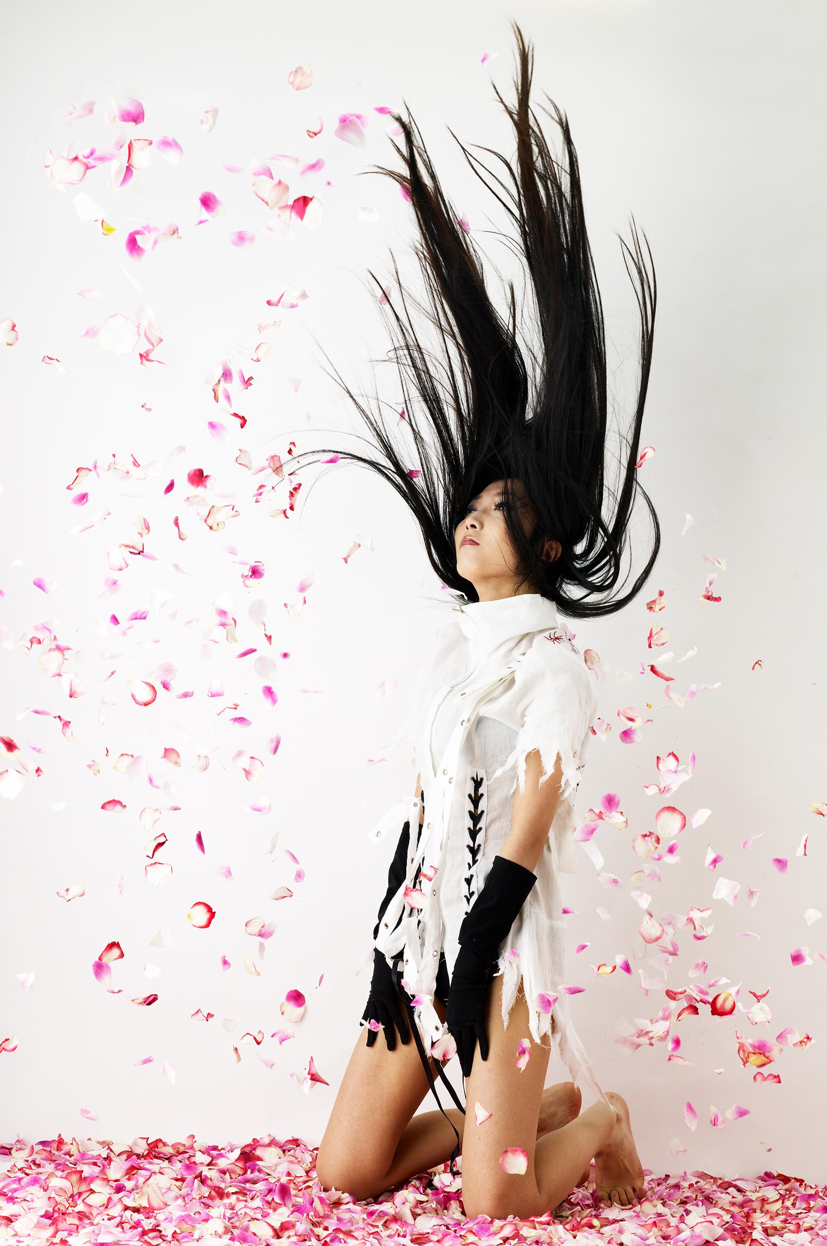 Roses and long hair