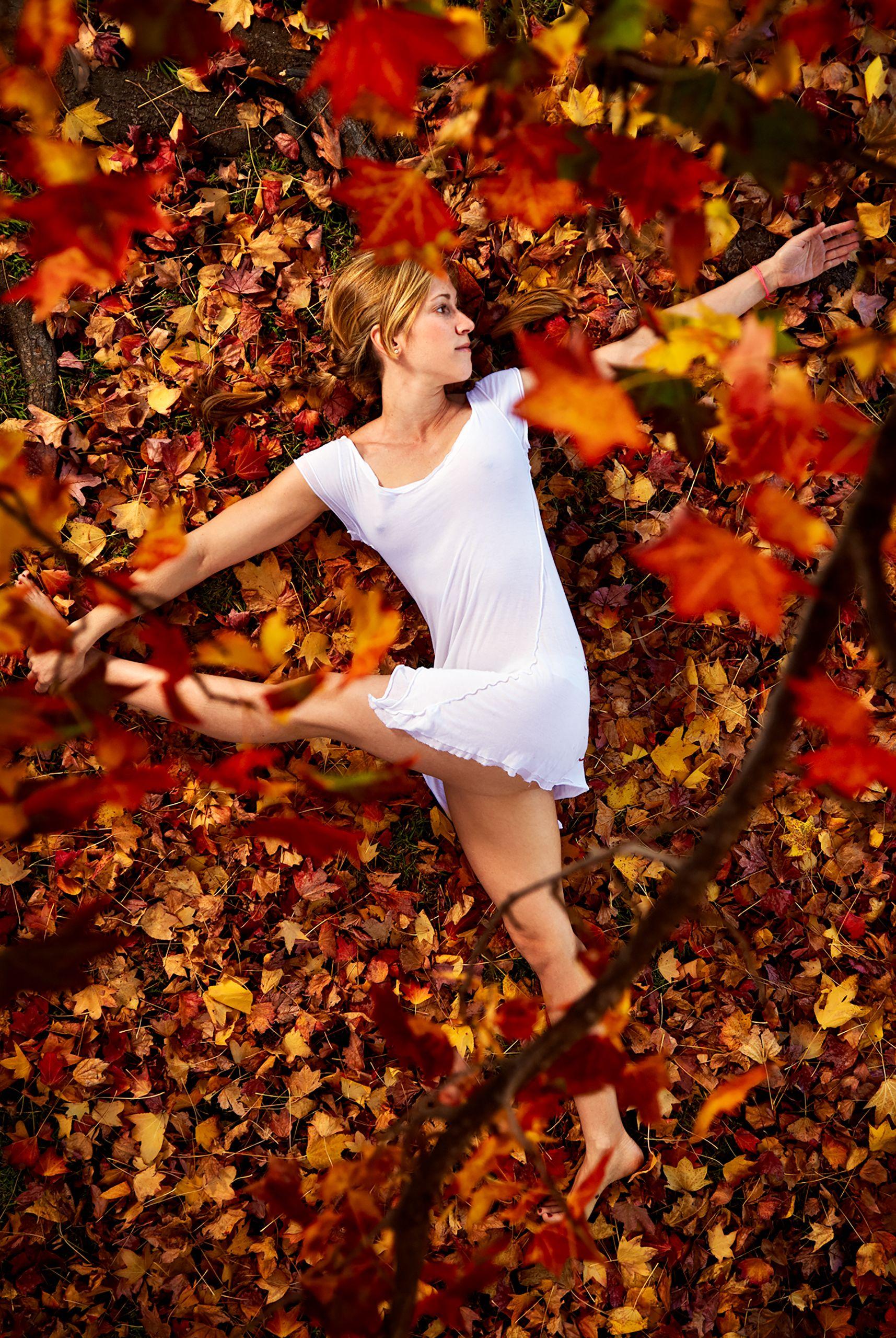 Yoga under Maple Tree