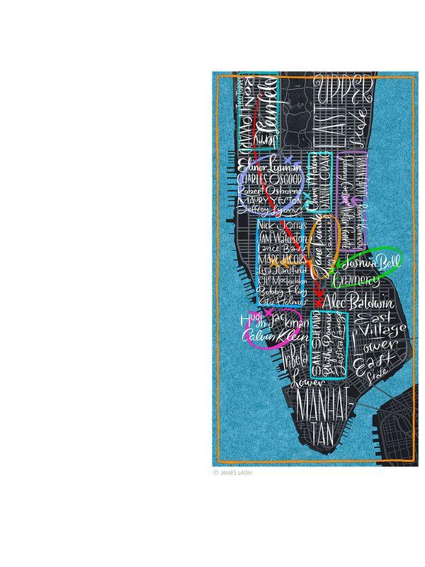 Manhattan Map, New York Times © James Laish