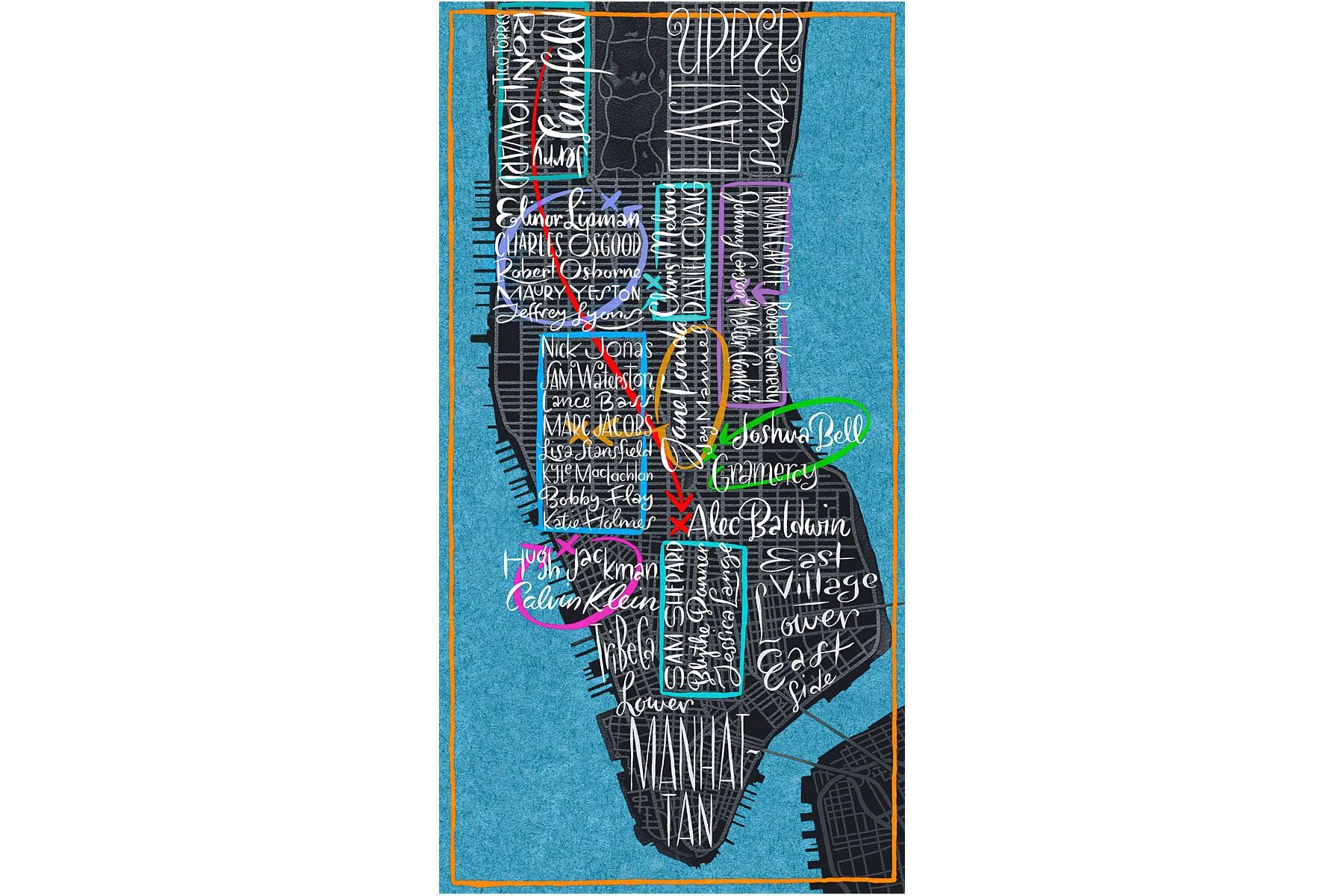 MANHATTAN Map Illustration © James Laish