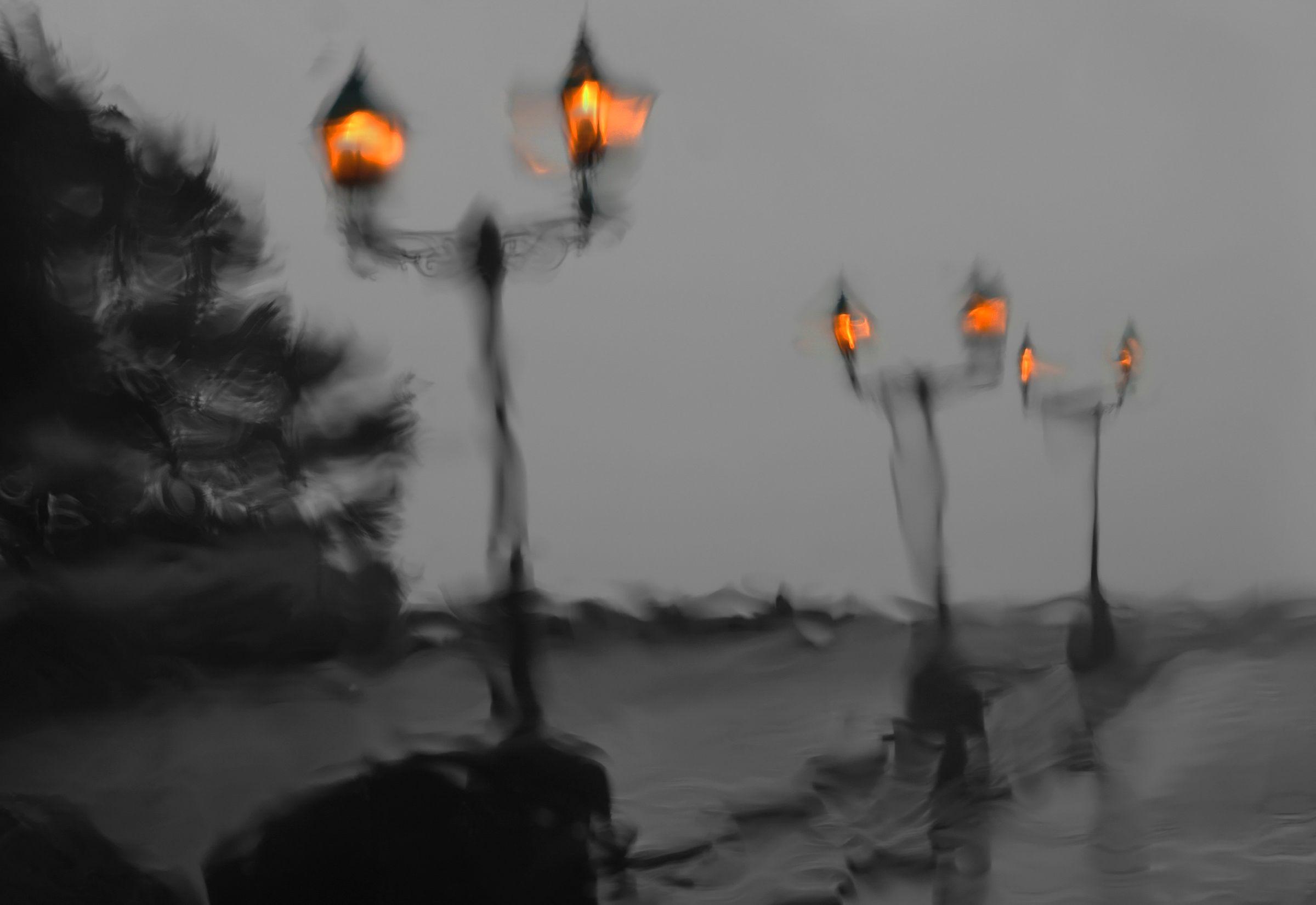 Rain Lights, California Coast
