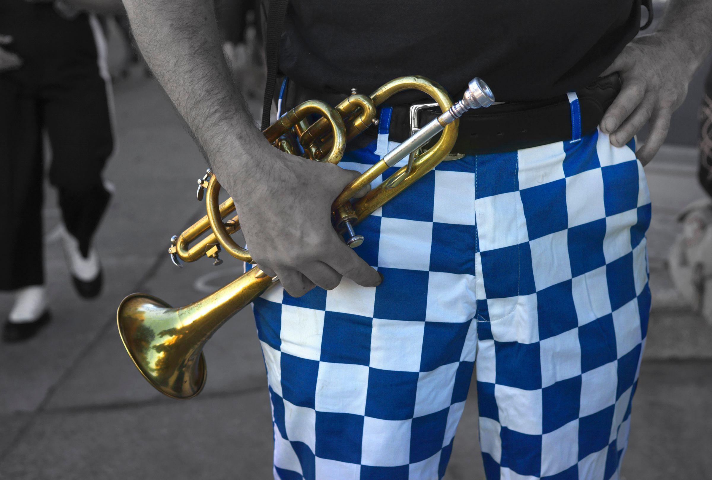 Trumpet W/ Checked Pants, San Francisco