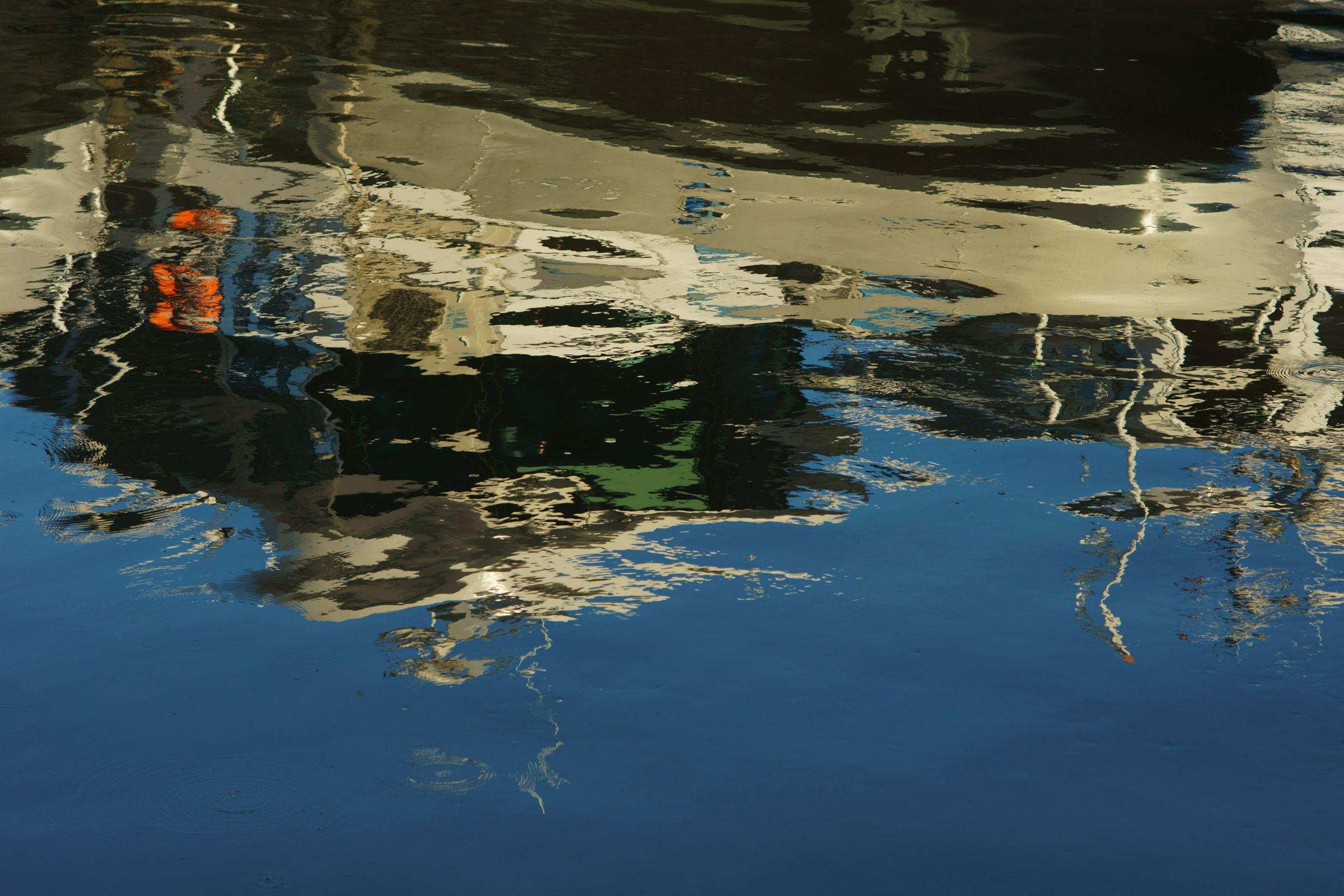 Danube Dock Reflection