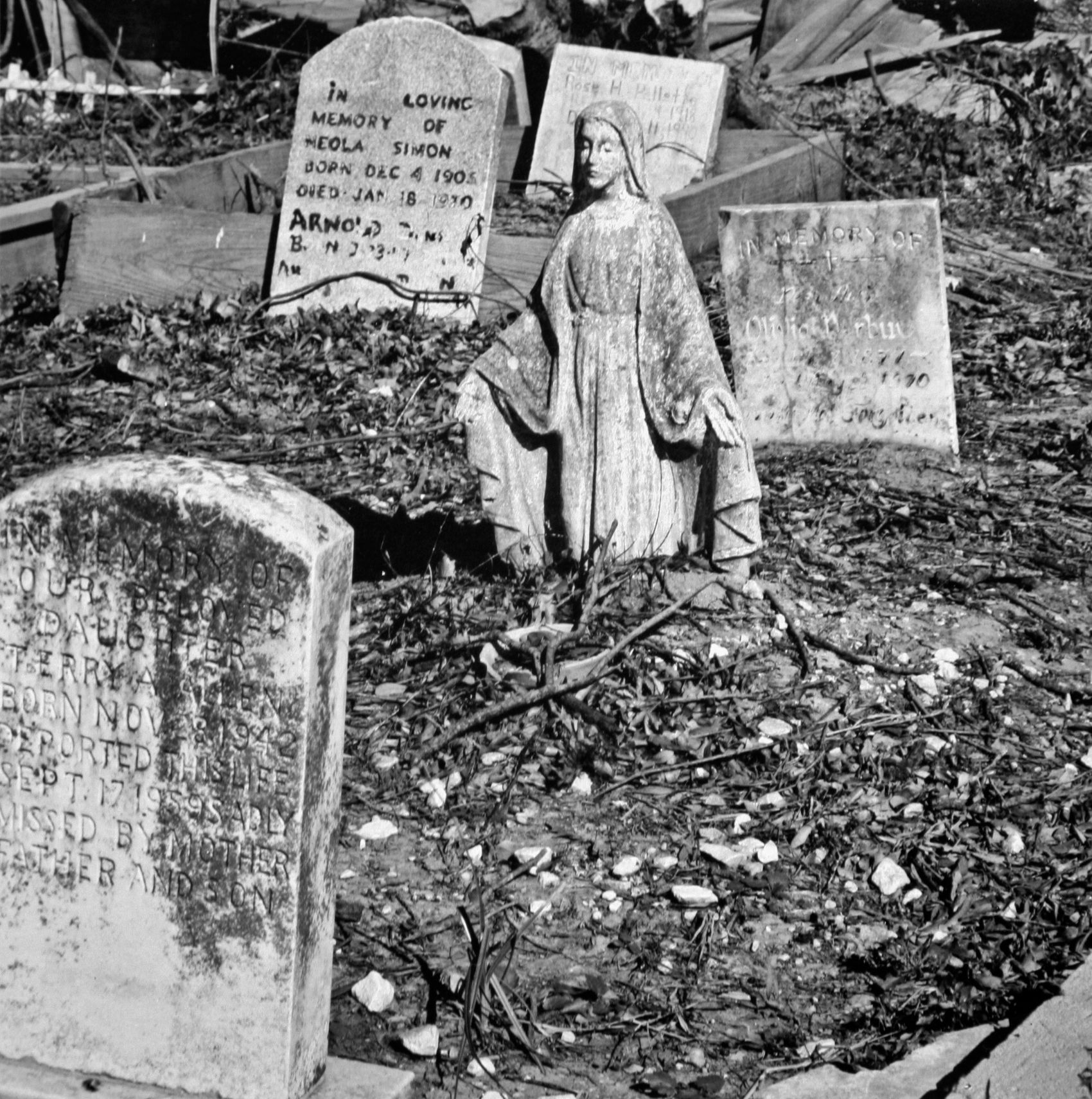 """After Hurricane Katrina, Half-buried Madonna"", New Orleans,  2005"