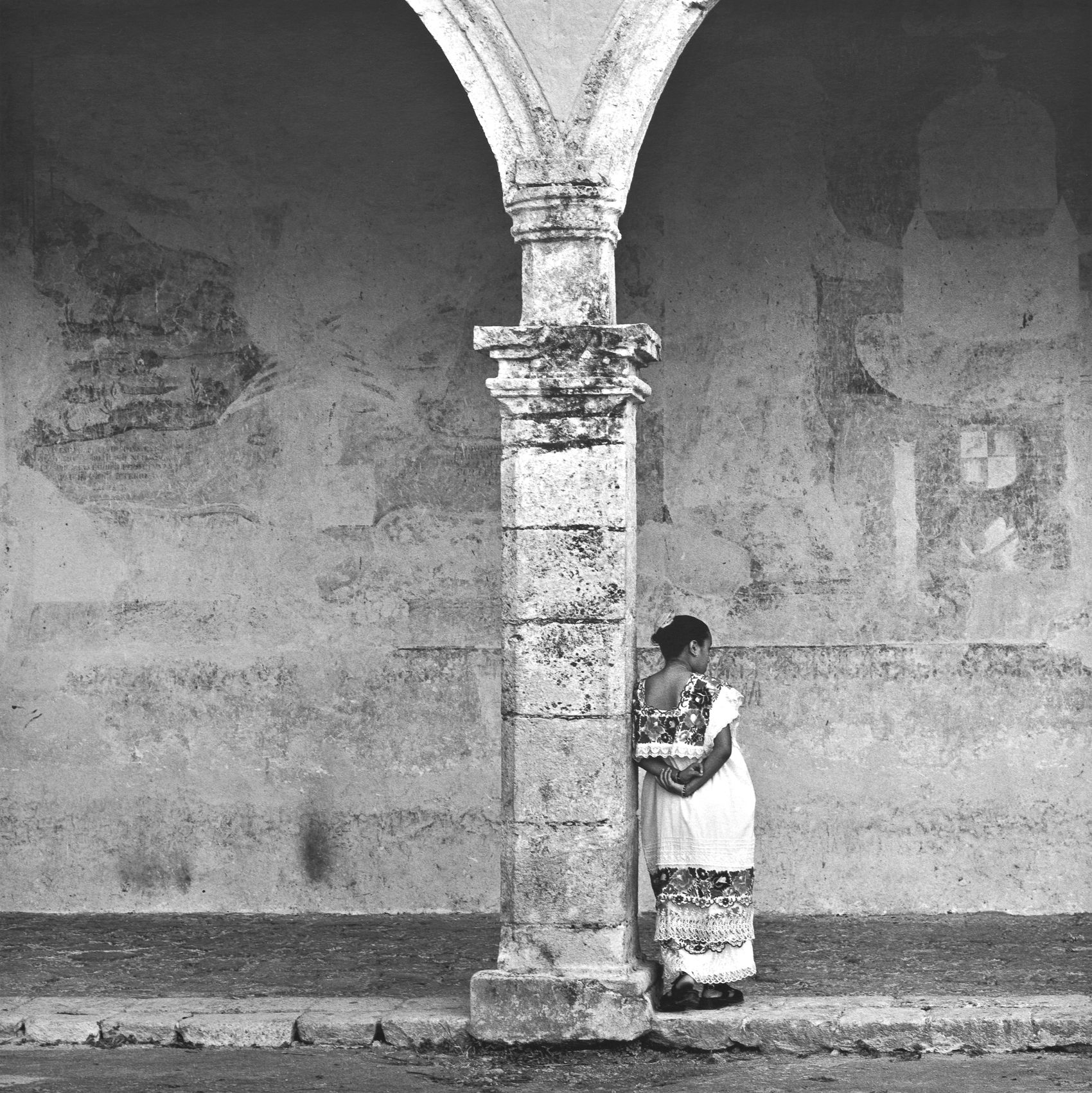 Woman Leaning,Izamal