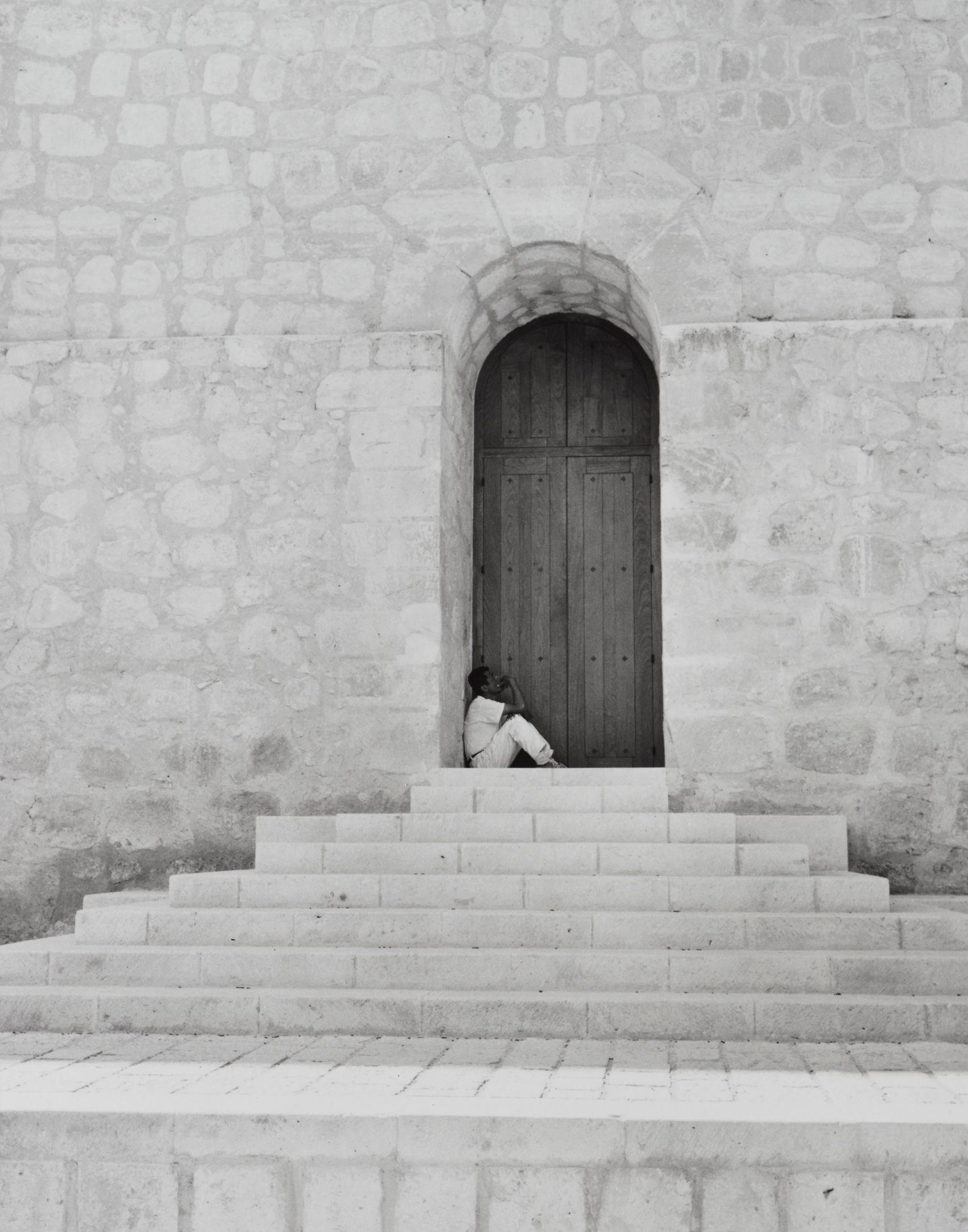 Resting in Doorway, Oaxaca