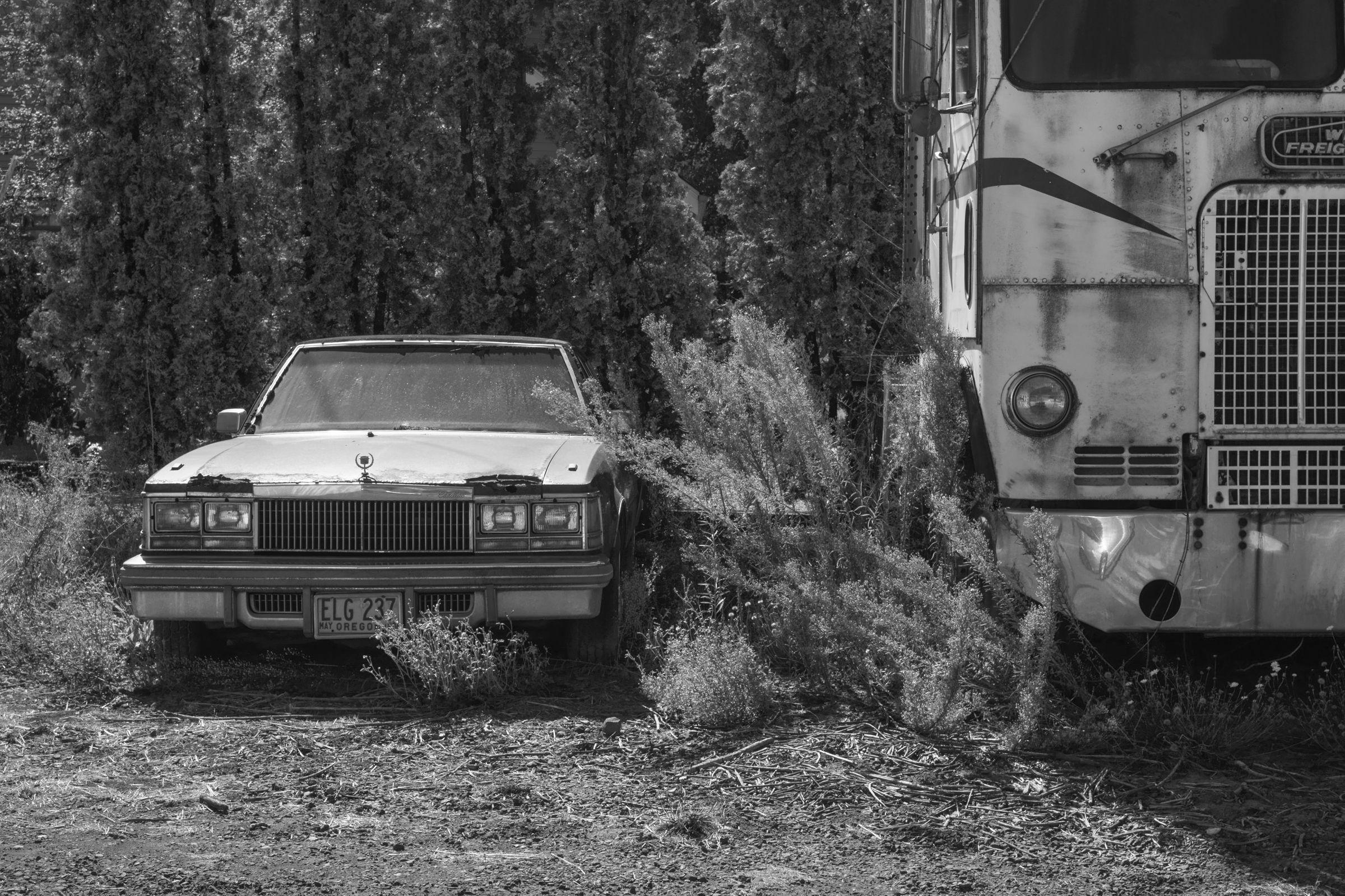Cadillac and Semi, Oregon
