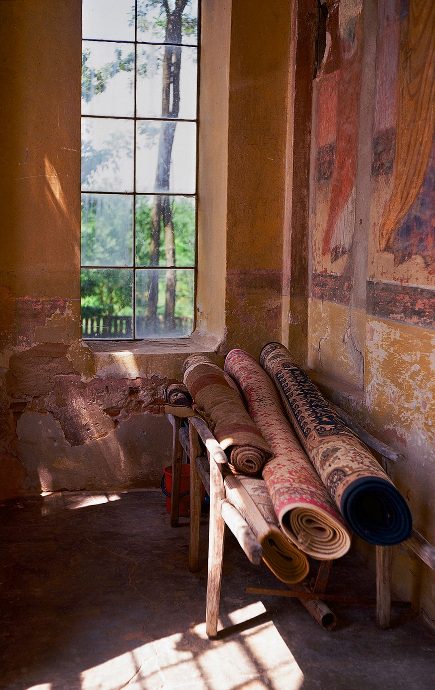 Rolled Rugs in Orthodox CHurch