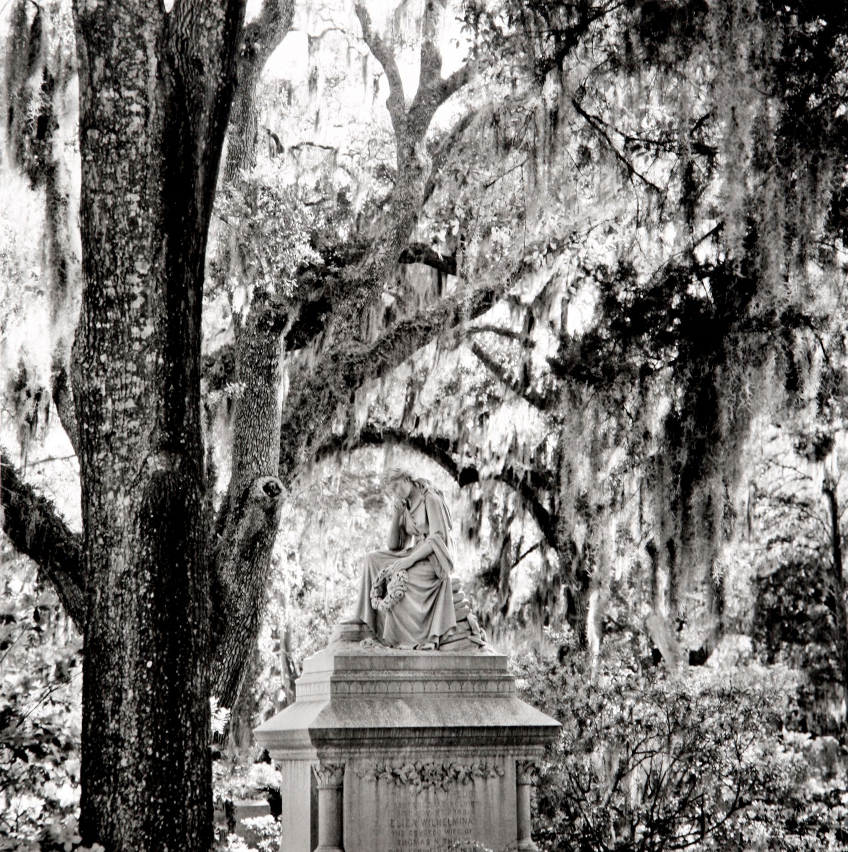 Under Hanging Moss,Bonadventure Cemetery, Savannah,  GA 2005