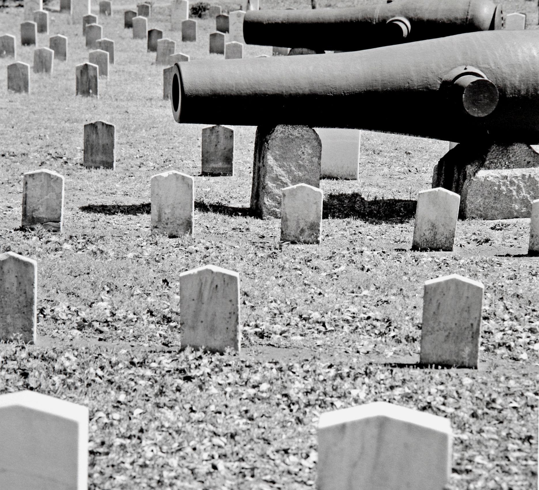 """""""Cannon and Civil War Dead"""", Magnolia Cemetery, Charleston,  South Carolina"""