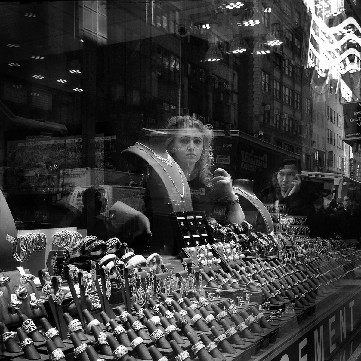 In the window, 47th street,NYC