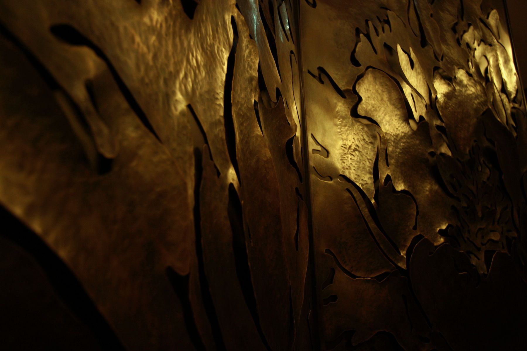 The Cosmos Chengdu - Feature bronze wall panel