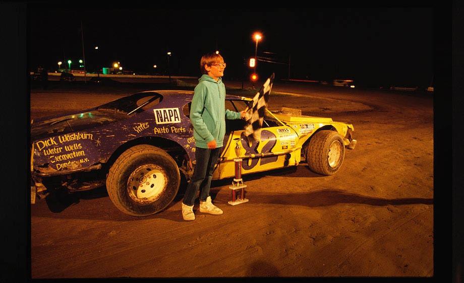 Race track kid