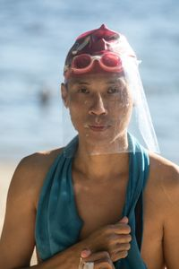 DAy 156 Swimmer puttig on face shield-7987.jpg
