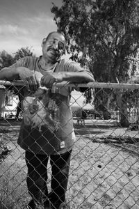 MAN BY FENCE-ARIZONA