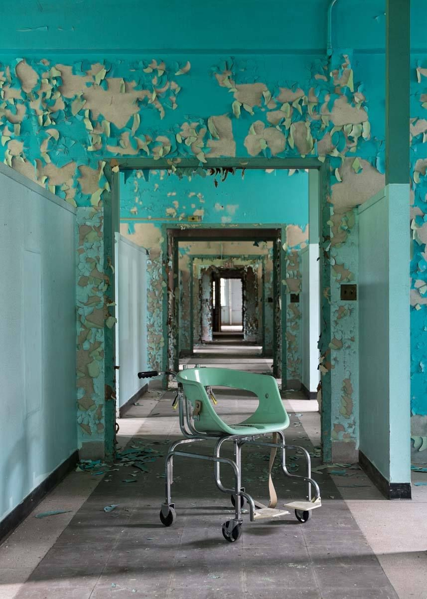 Blue Hallway with Chair