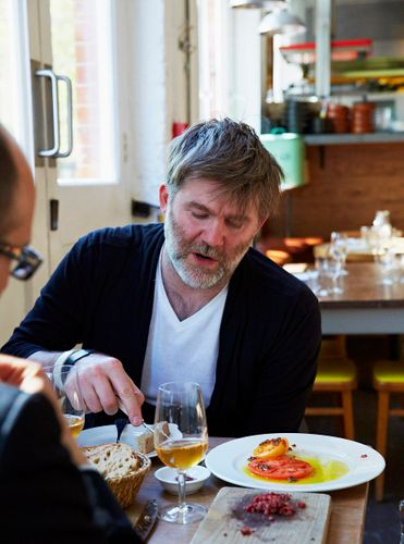 James Murphy and Jon Fine. Brawn, 49 Columbia Road, London UK
