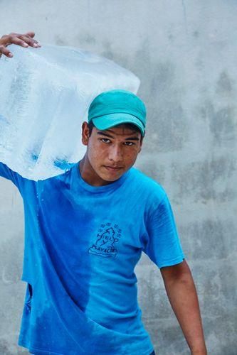Portrait of Ice Man   Williams-Sonoma Open Kitchen   Hartwood RestaurantTulum Mexico 2016