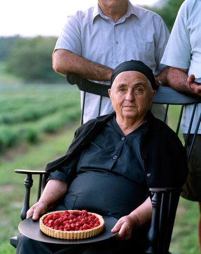 Greek lady with Raspberry tart