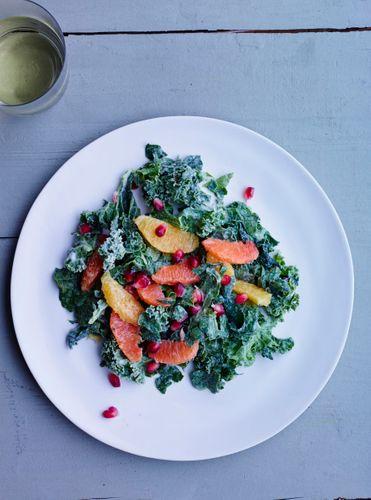 Pomegranate Kale Citrus Salad A130709 Root To Leaf Winter 2013