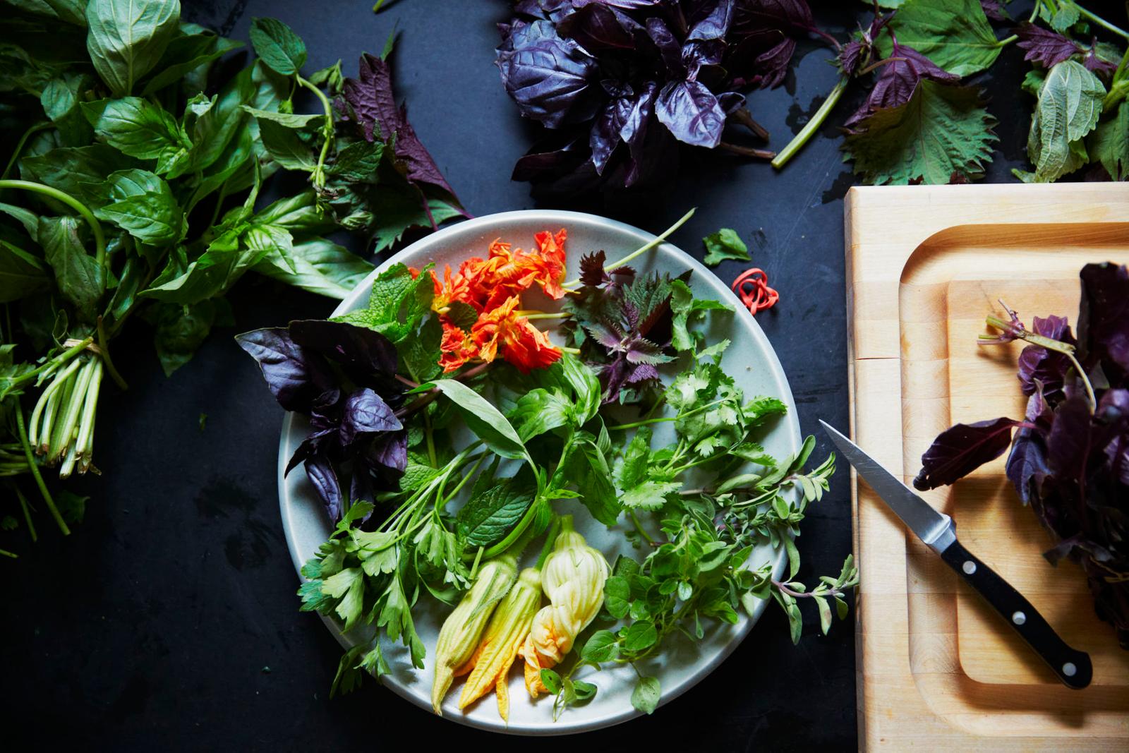 Raw Herbs   Ingredients Beauty A130709 Root to Leaf Stephen Satterfield Cookbook 2013