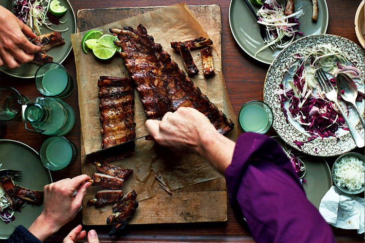Feed Me Now Bill Granger © JOHN KERNICK NO RIGHTS GRANTED Spicy 5-spice ribs Budget