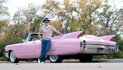 Pink Cadillac Photo Video Shoot Prop Car Vehicle Rental