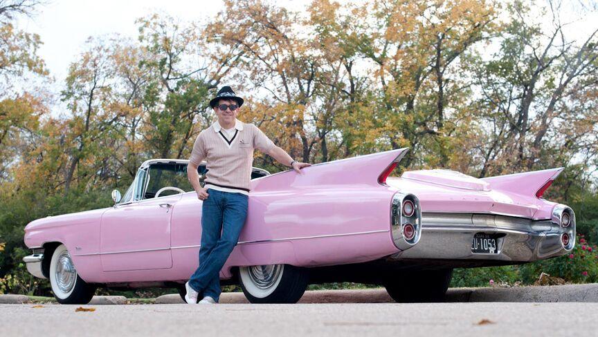 Pink Cadillac Photo Video Shoot Prop Car Vehicle Rental