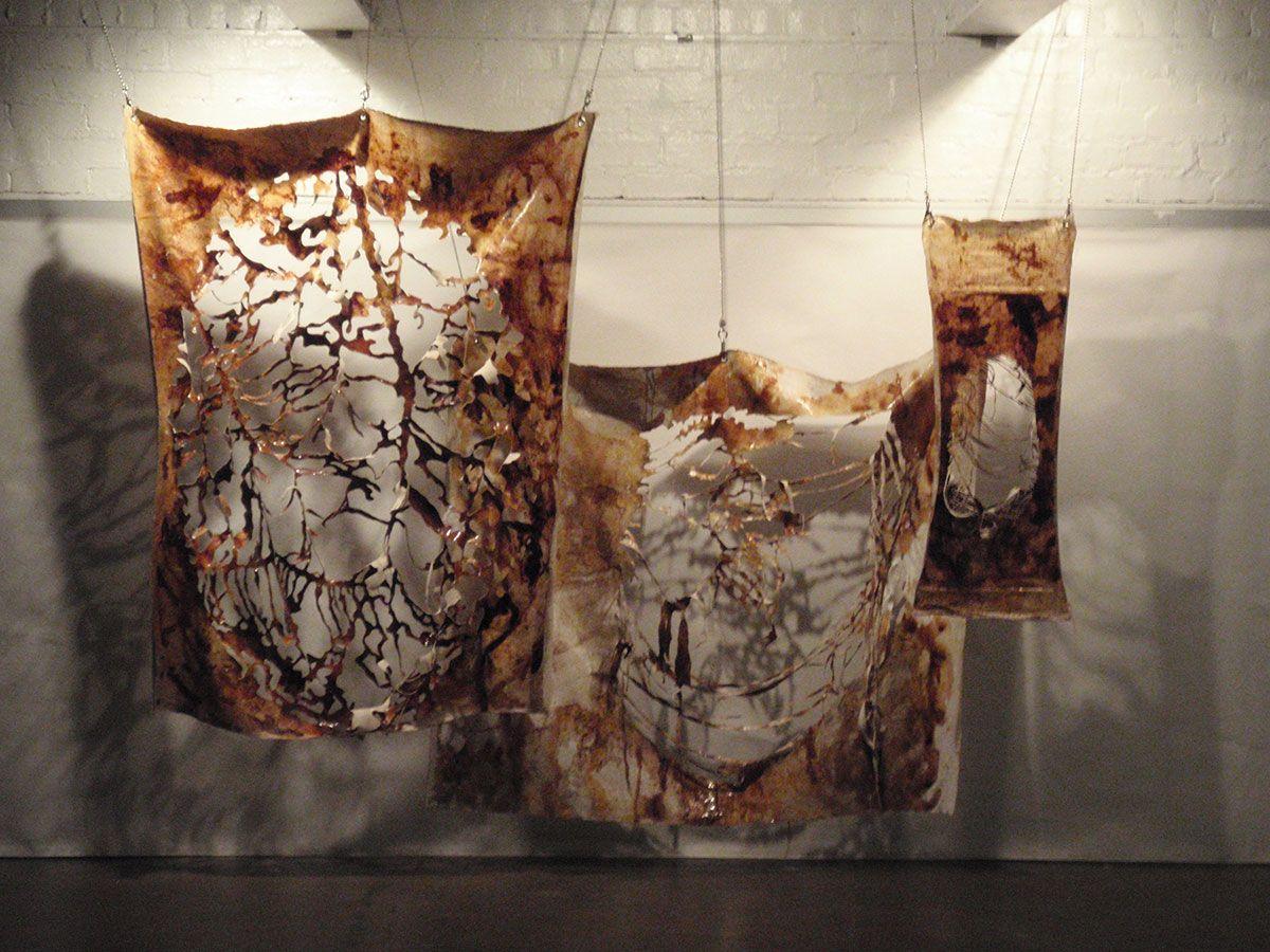 Mixed Media on Cut Canvas - Columbus Ohio Art Installation