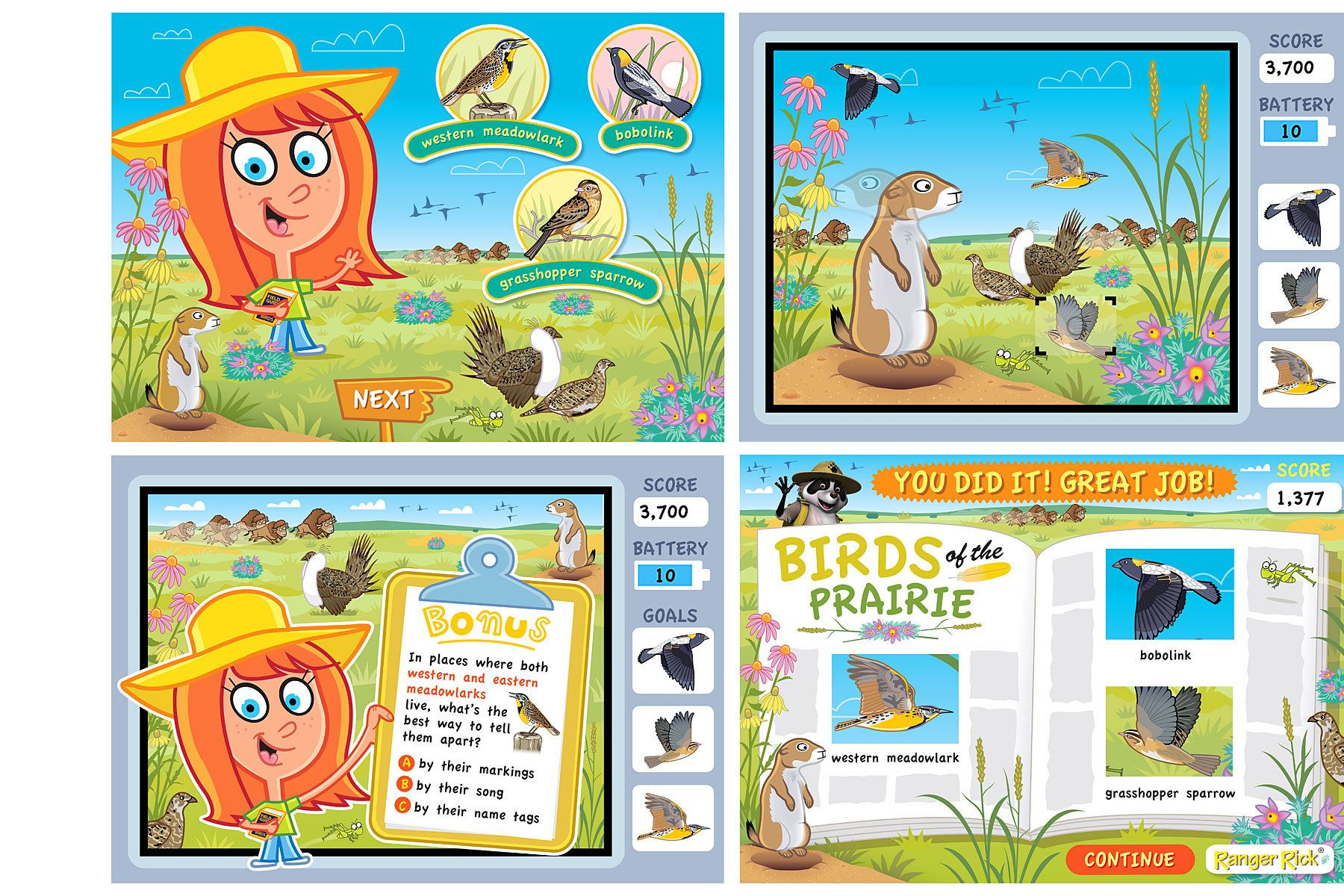 Click the Birdie - Prairie Habitat