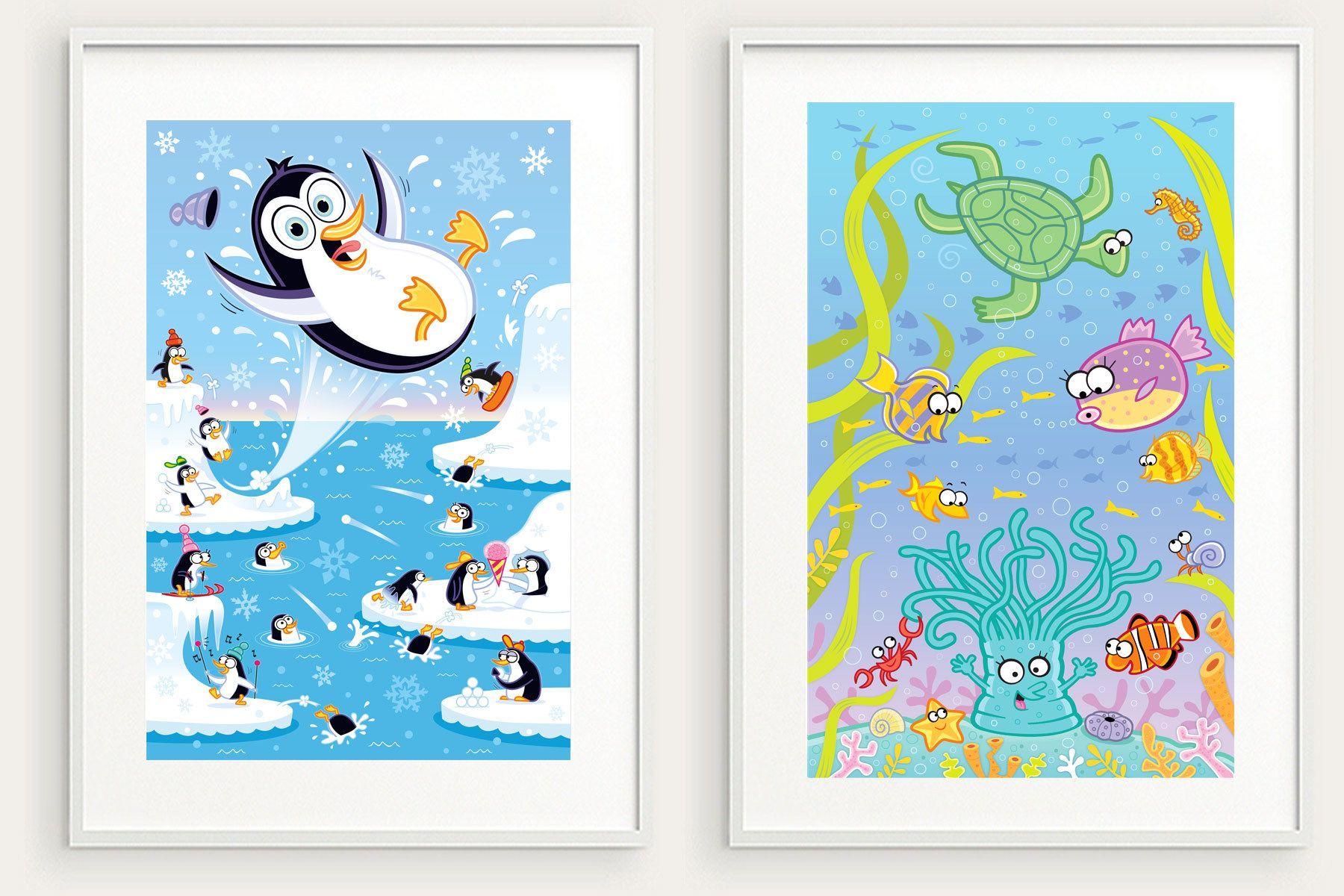 Penguin Holiday and  Anemone Antics