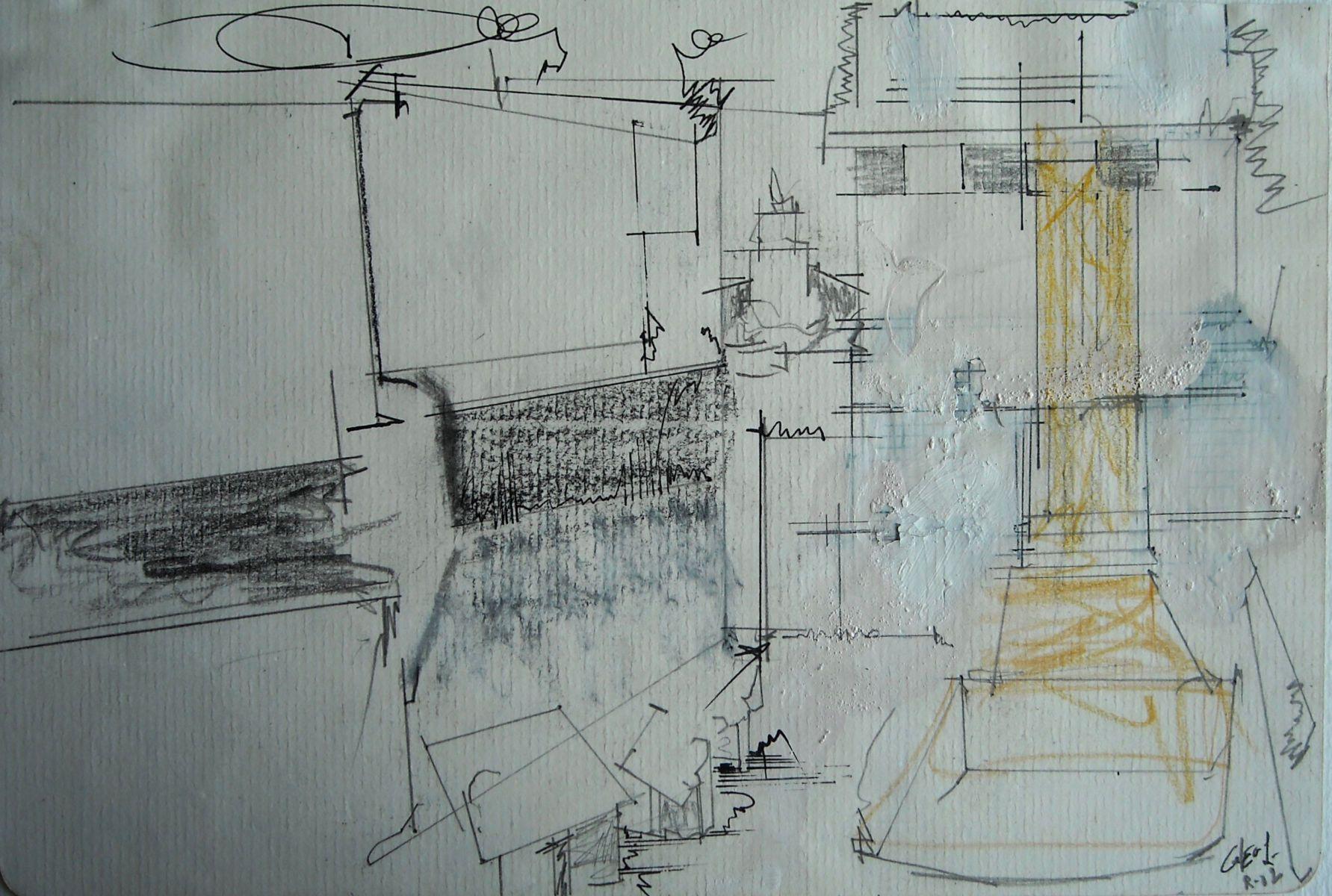 "COLUMN of TRAJAN   2002 Rome 5.5 . 8""   , wc from sketchbook"