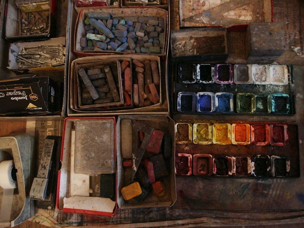 WATERCOLOR BOXES , PASTELS , CRAYONS etc  2006